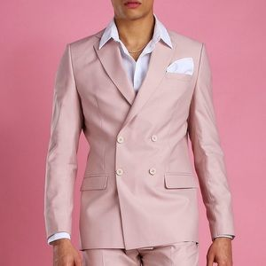 Other - Pink double breasted suit jacket
